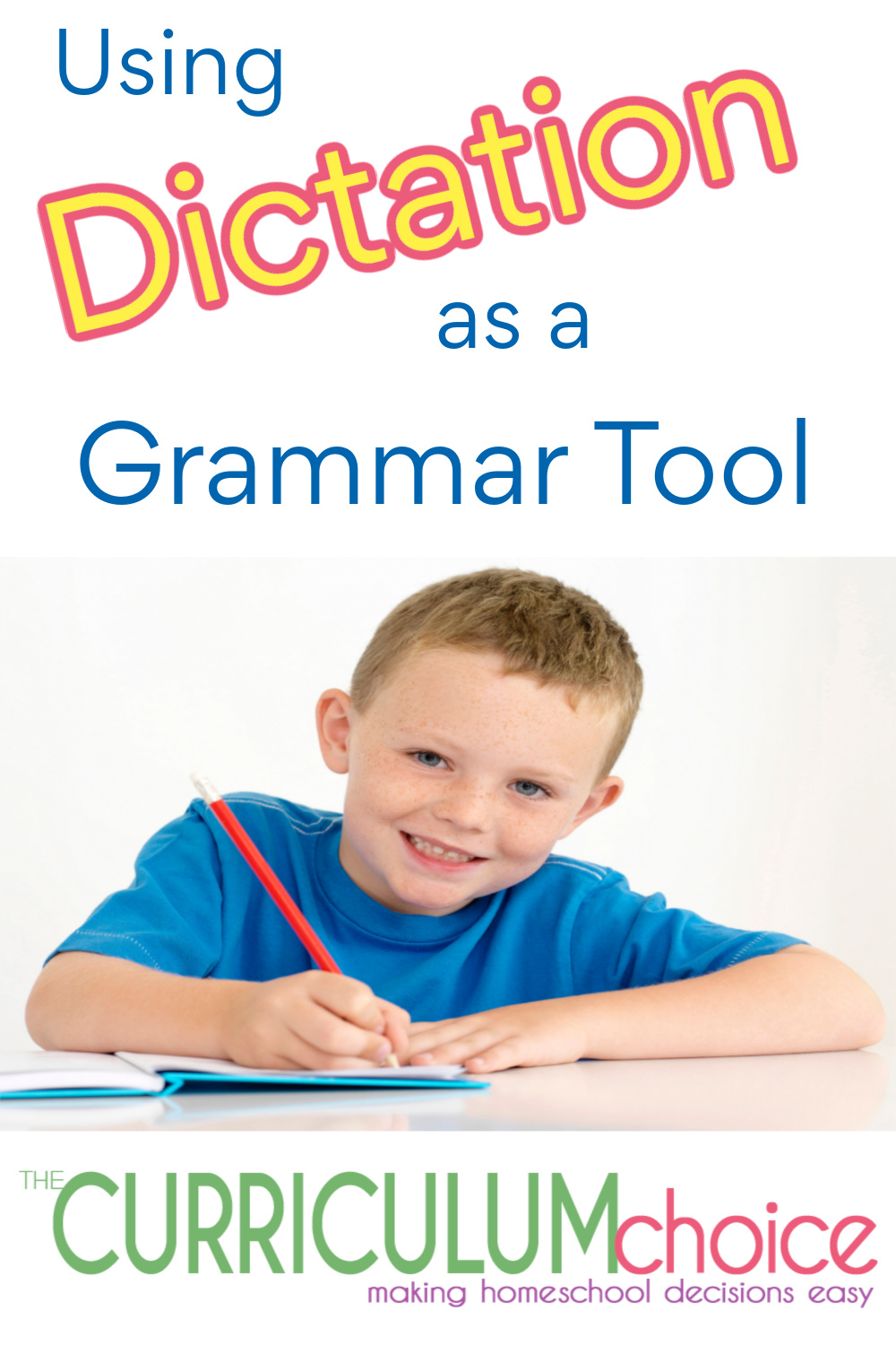 Using Dictation as a Grammar Tool is an effective and natural way to teach things like handwriting, spelling, vocabulary, sentence structure, and more.