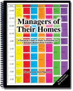 Managers of Their Homes – Scheduling for Homeschooling Families