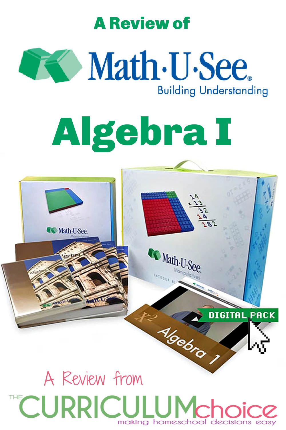 Math-U-See Algebra I is a hands on algebra curriculum that is great for visual-spatial learners using manipulatives to demonstrate problems. A Review from The Curriculum Choice.