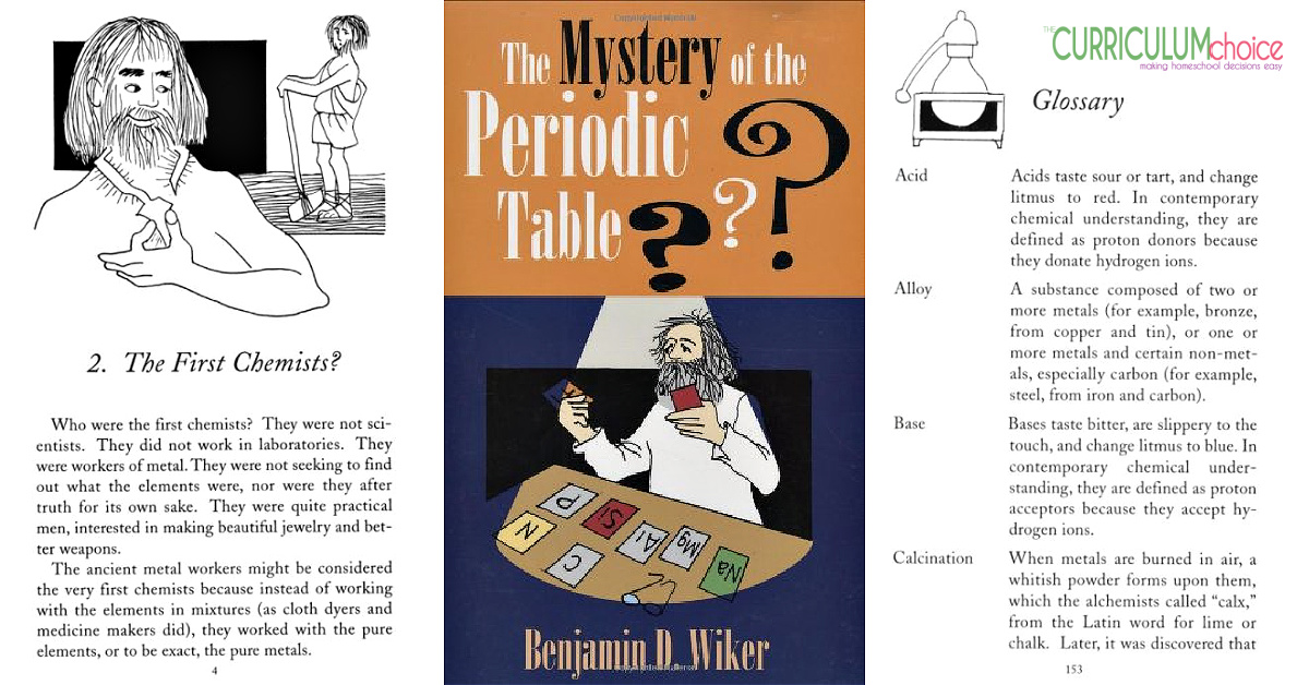 The Mystery of the Periodic Table is a non-fiction book of the history of chemistry from the Neolithic Period to twentieth century scientists. A Review from The Curriculum Choice
