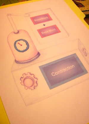 Contraption Contraction File Folder Game