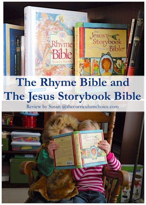 Bibles Abound: The Rhyme Bible and The Jesus Storybook Bible. Honest reviews of these two children's Bibles including likes and dislikes.