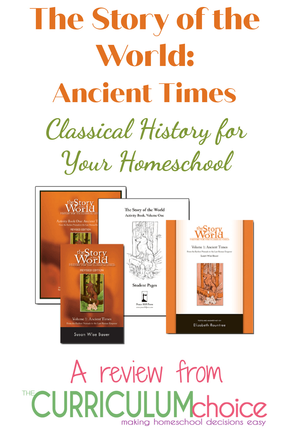 The Story of the World Ancient Times is the first in a 4 book classical education history series for homeschooling.  A review from The Curriculum Choice.