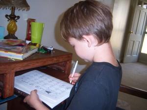 handwriting time