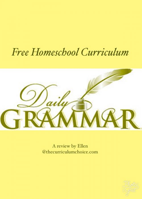 Daily Grammar is a FREE curriculum that is thorough and easy to use and a comprehensive complete curriculum for older elementary and middle grade students.
