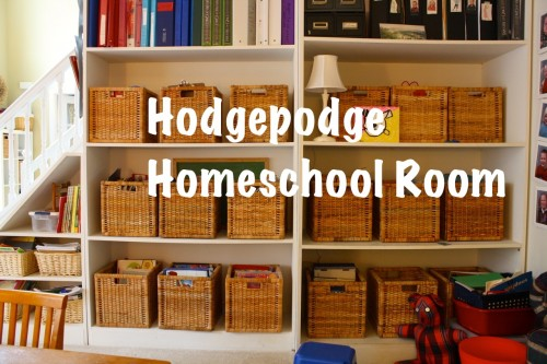 IKEA baskets for homeschool