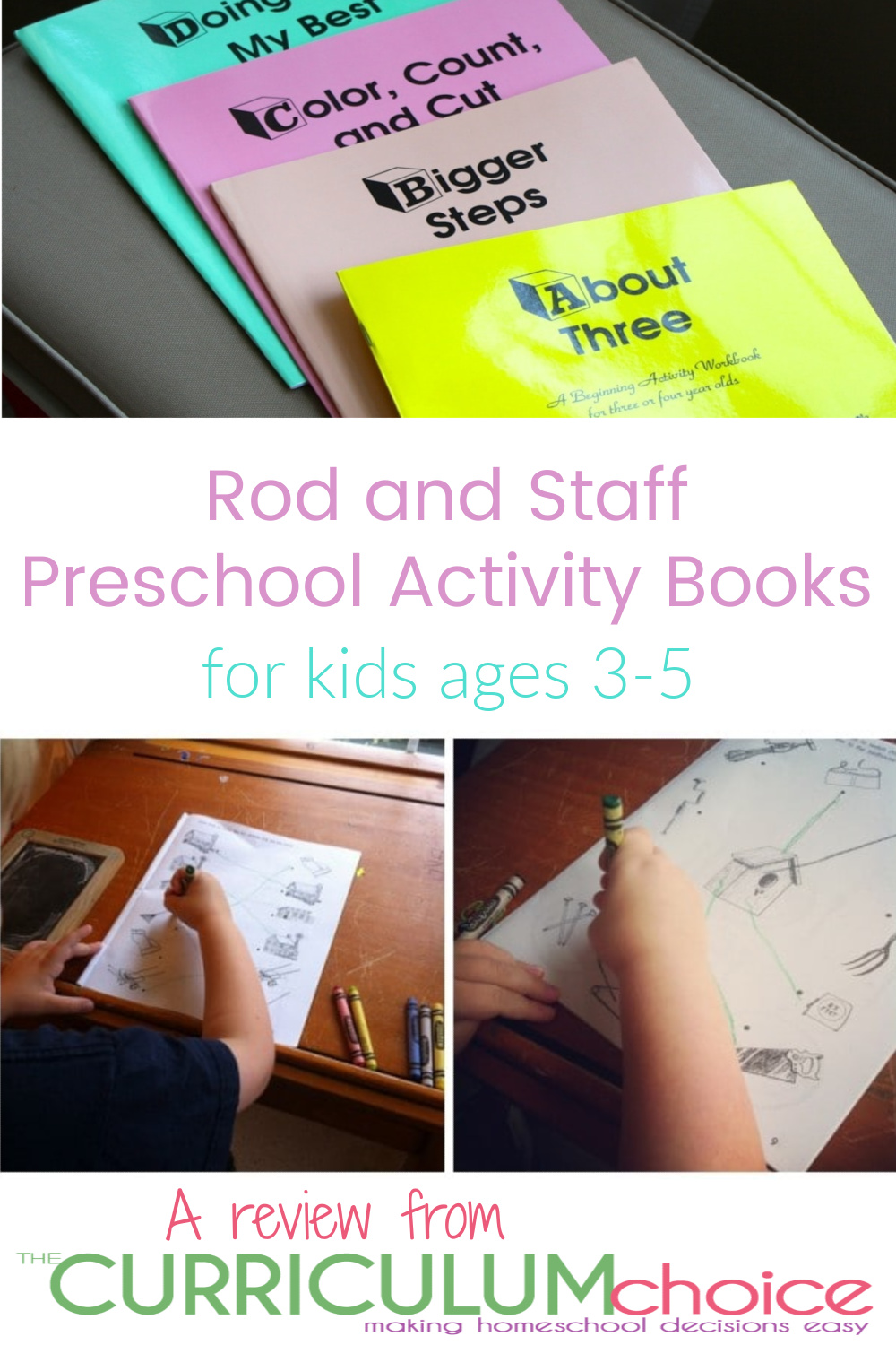 Rod and Staff Preschool Activity Books for kids ages 3-5 help build a good scholastic foundation for the preschool child. A review from The Curriculum Choice