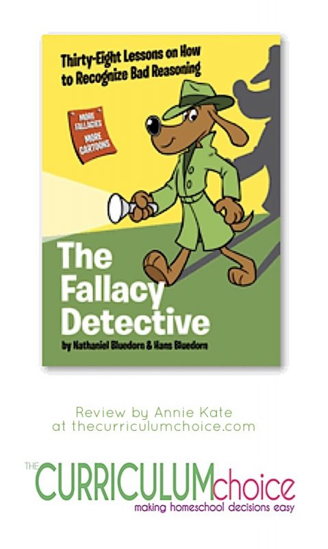The children study logic every year from about age 11 and on. Some years it's a great learning experience, and some years it's fun. When we study The Fallacy Detective by Nathaniel Bluedorn and Hans Bluedorn, it's both.