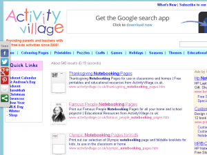 Activity Village: A Valuable Source for FREE Notebooking Pages