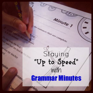 "Staying ""Up to Speed"" With Grammar Minutes"
