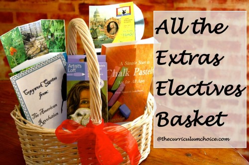 All the Extras - Electives Basket at www.thecurriculumchoice.com
