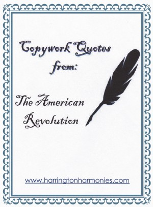 Copywork for the American Revolution copy
