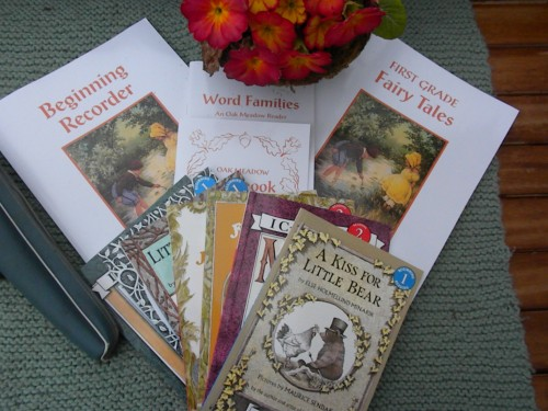 The complete Oak Meadow - First Grade curriculum package , including the Syllabus, which is full of weekly lesson plans.