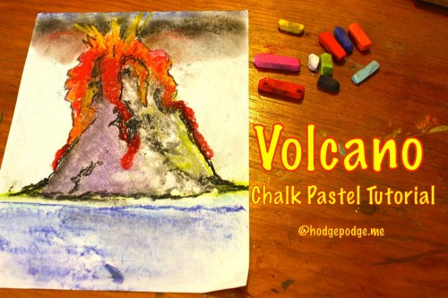 Volcano Chalk Pastel Tutorial at Hodgepodge
