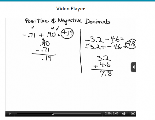 no-nonsense algebra video screen shot