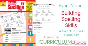 Evan-Moor Building Spelling Skills is a complete 1 year spelling curriculum for grades 1 through 6. A Review from the Curriculum Choice