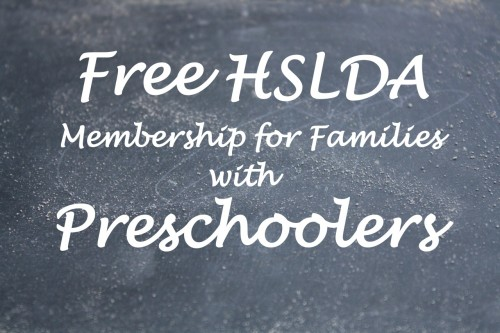 Free HSLDA Membership for Families with Preschoolers