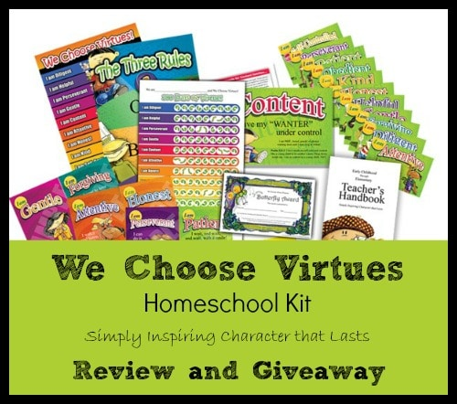We Choose Virtues Homeschool Kit Review and Giveaway at The Curriculum Choice