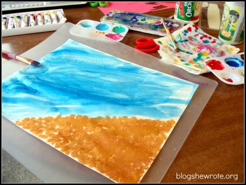 Blog She Wrote: Home Art Studio Grade 5