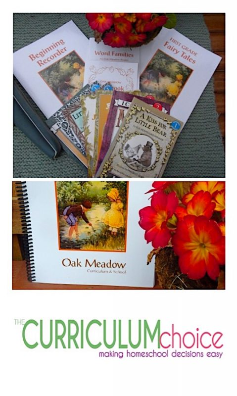 Oak Meadow is a creative, project based curriculum for your younger ones. I was delighted when I found Oak Meadow First Grade. It is full of hands on activities, beautiful art, and lots of resources. The Oak Meadow introduction spoke of developing the whole child: head, hands and heart.