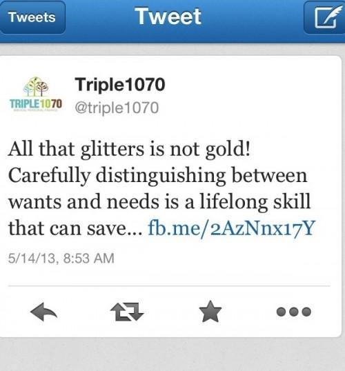 Triple 1070 on Twitter