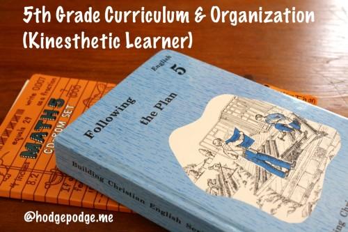5th Grade Curriculum and Organization