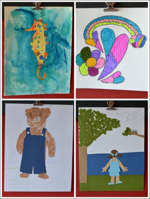 Completed Art Projects from Storybook Art