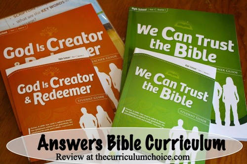 Answers Bible Curriculum Review at www.thecurriculumchoice.com