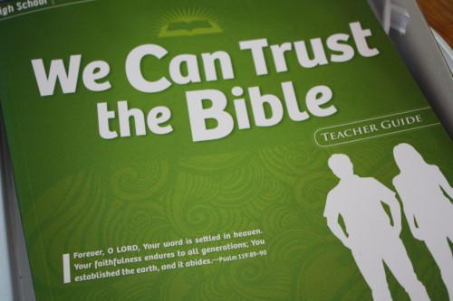 Answers Bible Curriculum we can trust the Bible