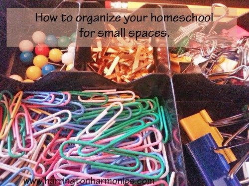 Organizing Your Homeschool in Small Spaces | The Curriculum Choice