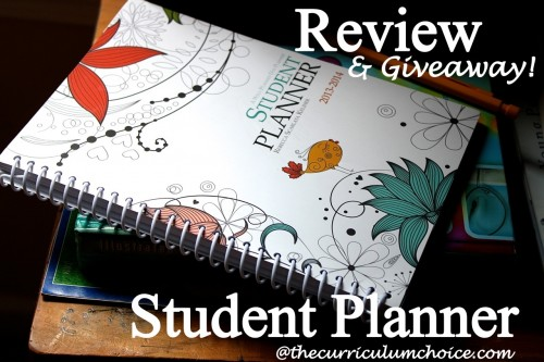 Well Planned Day Student Planner Review at www.thecurriculumchoice.com #homeschool