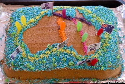 Geography cake at Aussie Pumpkin Patch