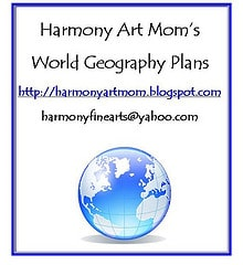 World Geography Plans from Harmony Art Mom