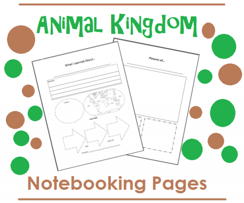 Animal Kingdom Notebooking Pages