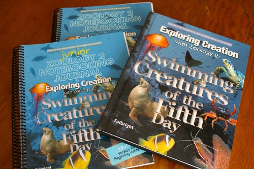 Apologia Swimming Creatures of the Fifth Day text and notebooks www.thecurriculumchoice.com