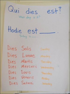 Song School Latin Vocabulary Poster