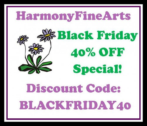Harmony Fine Arts Black Friday Button