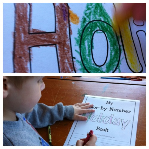 Color by number Holiday - by Kindergartener