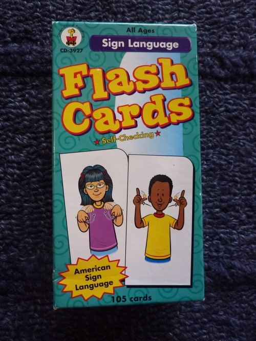 sign language flash cards