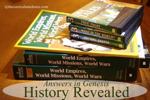 (with giveaway!) Answers in Genesis - History Revealed by Diana Waring review www.thecurriculumchoice.com