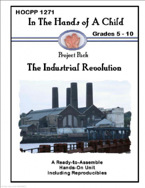 Lapbooks are a great tool to cover topical studies or perhaps something relevant to the seasonal year. Our latest purchase is a project pack from 'In The Hands Of A Child' called 'Industrial Revolution'.