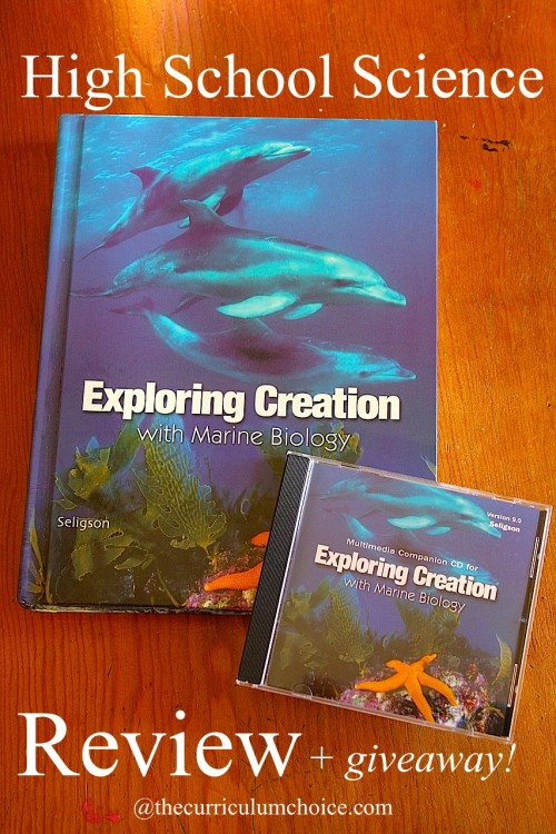 Apologia's Exploring Creation with Marine Biology - Homeschooling High School www.thecurriculumchoice.com