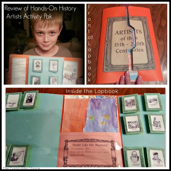 Hands on HIsotry Artists Activity Pak Review| The Curriculum Choice