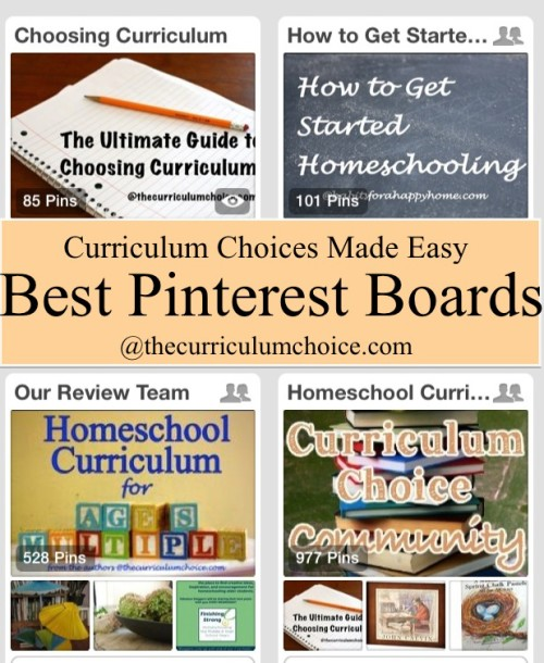 #Homeschool Curriculum Choices Made Easy with Pinterest www.thecurriculumchoice.com