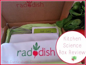 Raddish Kitchen Science Box Review | The curriculum Choice
