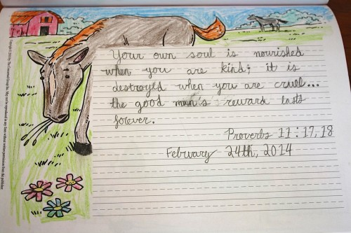 scripture practice with A Reason for Handwriting www.thecurriculumchoice.com