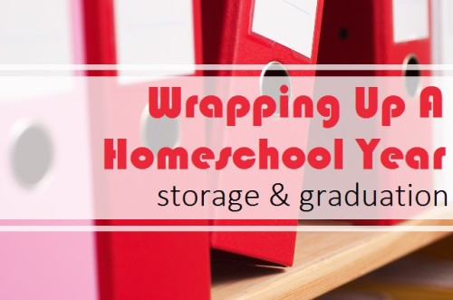 Homeschool Storage and Graduation Ideas