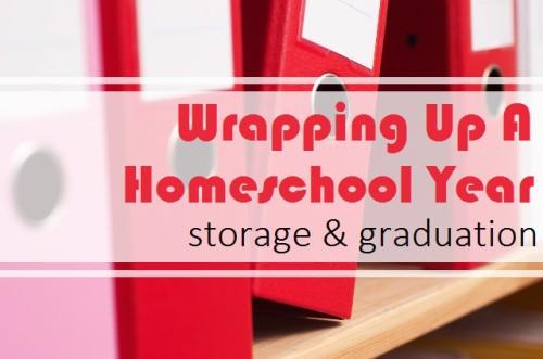 Homeschool Storage and Graduation Ideas