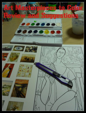 Art Masterpieces to Color review button