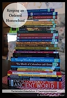 Keeping An Ordered Homeschool - great tips by Curriculum Choice authors!
